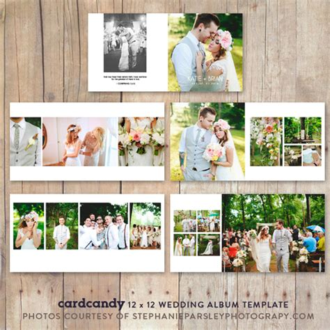 wedding album photobooktemplate12x12 stationery