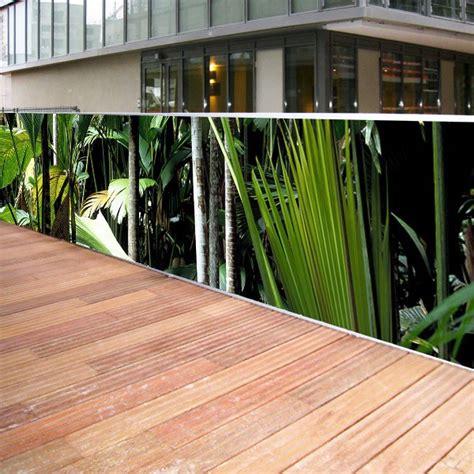 Brise Vue En Toile Pour Terrasse brise vue en toile pour ext 233 rieurs jungle 1 x 5 ml