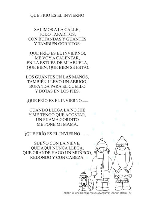 la cancion de los letra de la cancion el invierno orientaci 243 n and 250 jar recursos educativos
