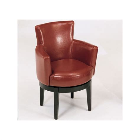 Swivel Leather Club Chair In Red Lc247arswre Leather Club Chair Swivel
