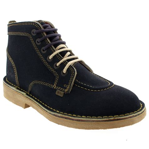 Kickers Suede mens kickers legendry suede lace up ankle high work office smart shoes uk 6 12