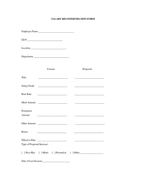 pay increase form template wage increase form it resume cover letter sle