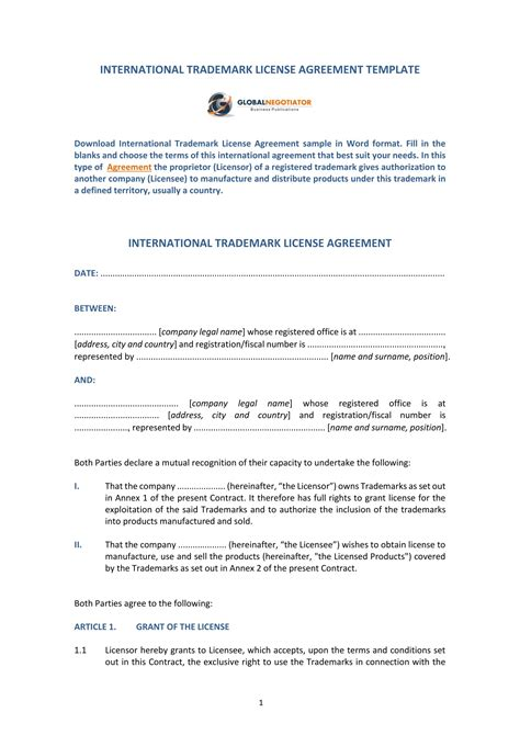 13 Trademark License Agreement Forms Pdf Doc Trademark License Agreement Template