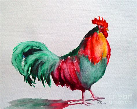 colorful chickens colorful chicken painting by carolyn jarvis