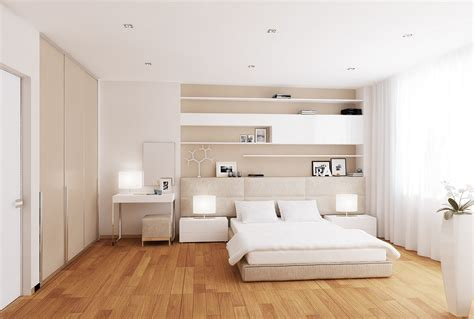 white wood floor bedroom contemporary bedroom interior decoration using cream large