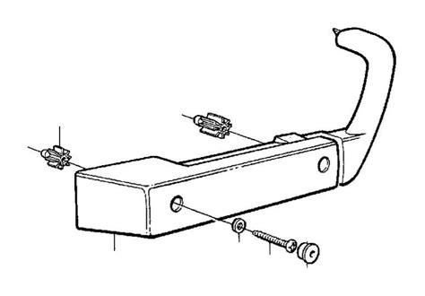 volvo  cross recessed screw door armrest panel  genuine volvo part