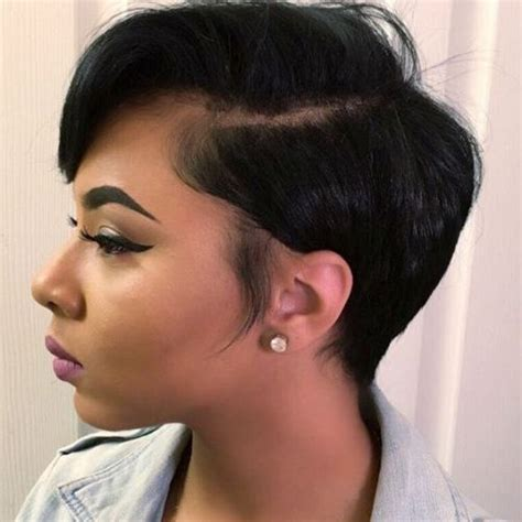 black people short hair style sleek in front curly back 60 great short hairstyles for black women