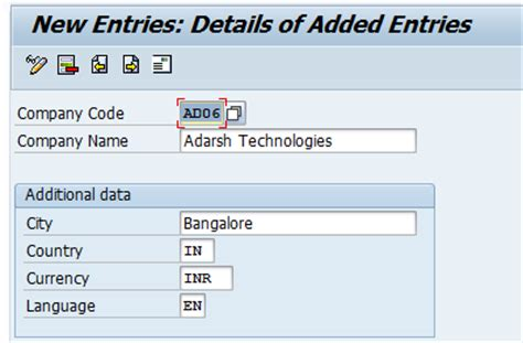 how to create company code in sap define company code in
