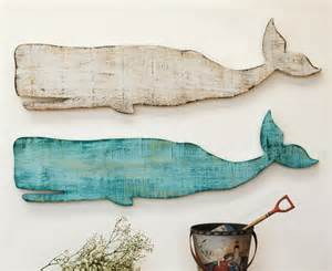 Set Of 3 Floor Vases Wooden Whale Wall Plaque Beach Style Home Decor New