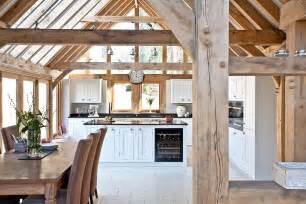 Classic traditional vaulted ceiling kitchen diner with