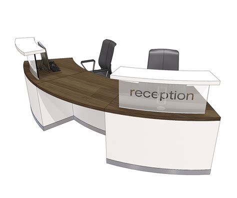 two person reception desk clarke rendall curved double upstand 2 person desk mode4