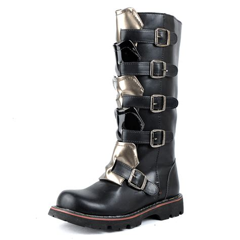 Platform Boots Side Zipp Cm15 Hitam Limited top quality 2014 new s tidal current boots casual platform side zipper motorcycle boots