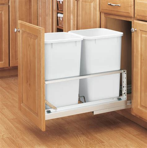 Kitchen Waste Containers by Cabinet Hardwares Roll Out Tray Glass Shelf Sincere