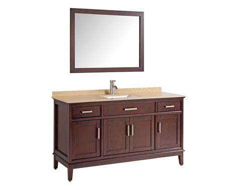 Bathroom Vanities 60 Single Sink Mtd Vanities 60 Quot Single Sink Bathroom Vanity Set Tabacco