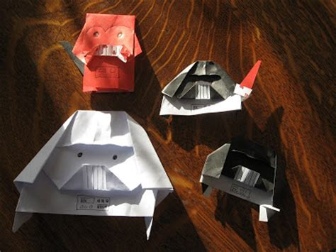 Wars Origami Finger Puppets - almost unschoolers darth paper strikes back the return