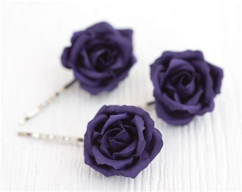 Wedding Hair Accessories Roses by Purple Hair Accessories Flowers Hair Hair Flowers