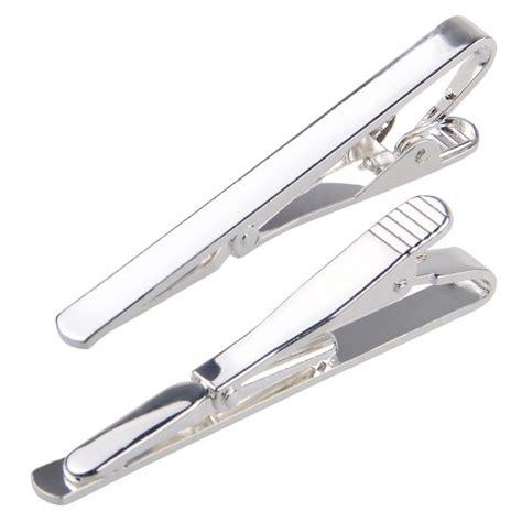 silver metal bar fashion men metal silver gold simple necktie tie bar clasp