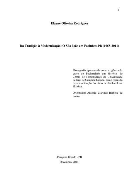Da tradição à modernização o são joão em pocinhos pb (1958