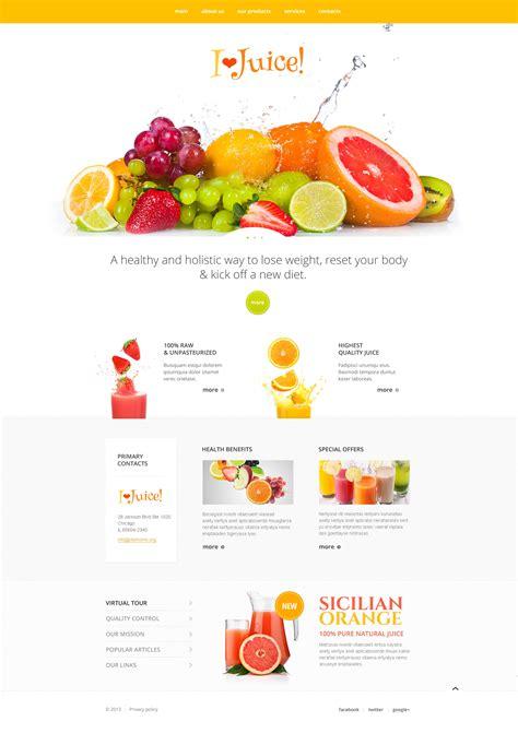 Healthy Juice Website Template 47422 Juice Menu Template