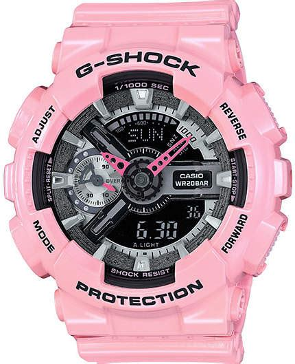 s casio g shock pink analog digital gmas110mp 4a2