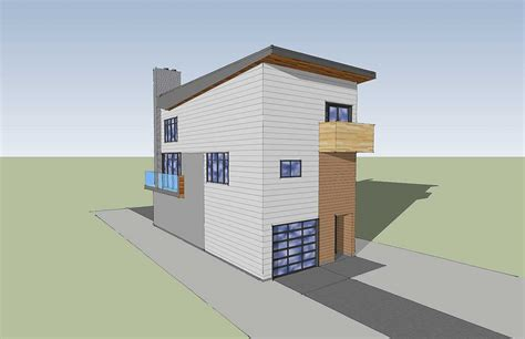 Narrow Lot Contemporary Home Plan 84903sp 2nd Floor Narrow Lot House Plans With Drive Garage