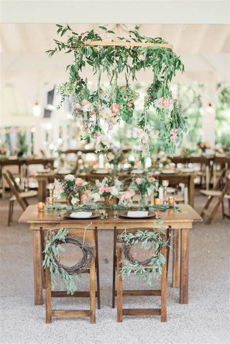 Rustic garden boho sweetheart table decor #