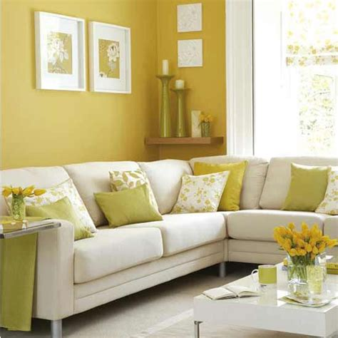 Yellow Living Room Decor Decorating Room With Yellow Color Interior Designing Ideas