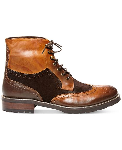 steve madden occupie boots in brown for brown lyst