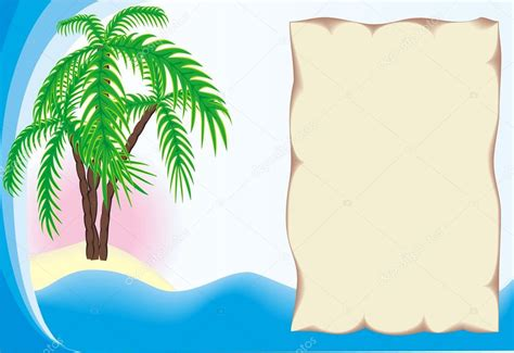 Border Clipart 1255757 Illustration By by Tropical Island Border Stock Vector 169 Vberla 4088061