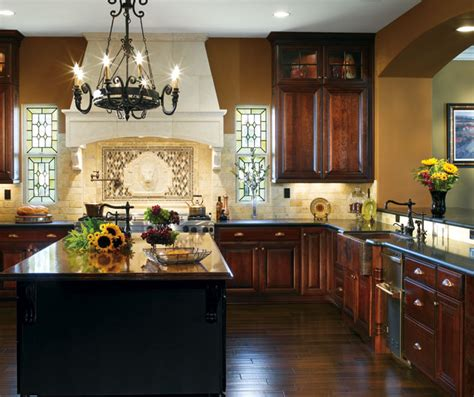 dark cherry kitchen cabinets dark cherry cabinets in traditional kitchen decora