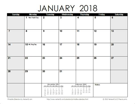 printable monthly planner 2018 free printable calendar printable monthly calendars