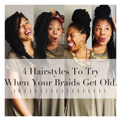 hairstyles for when your braids get old 4 easy hairstyles to try when your braids start looking