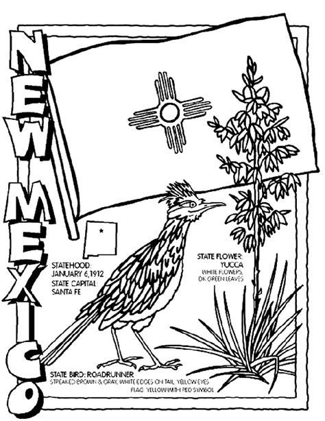 new mexico state colors new mexico coloring page crayola