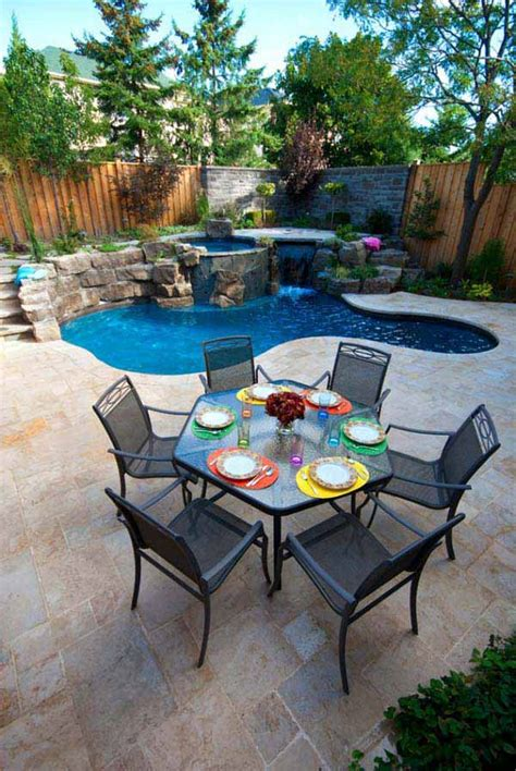 25 Fabulous Small Backyard Designs With Swimming Pool Small Backyard Design Ideas