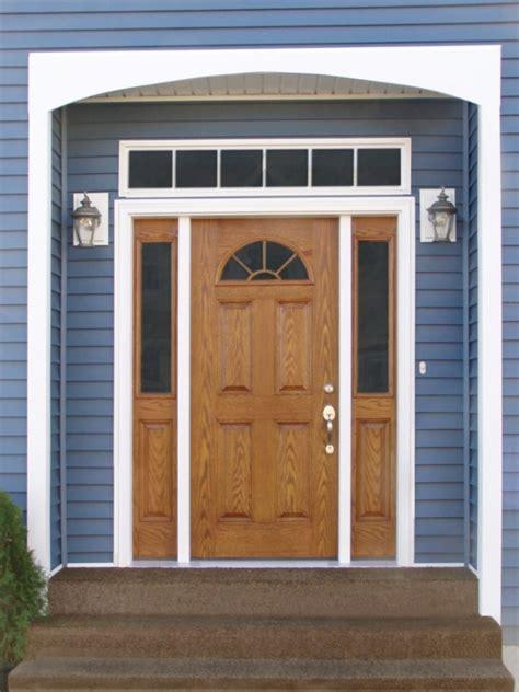 Steel Front Door With Sidelights Steel Front Door With One Sidelight Home Design Ideas