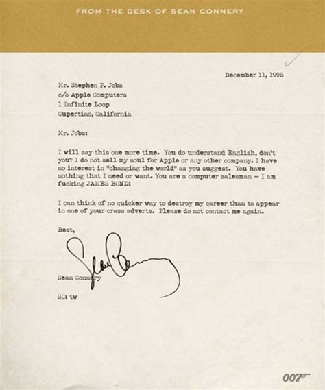 Apple Customer Letter News Connery Letter To Steve Goes Viral Cnet
