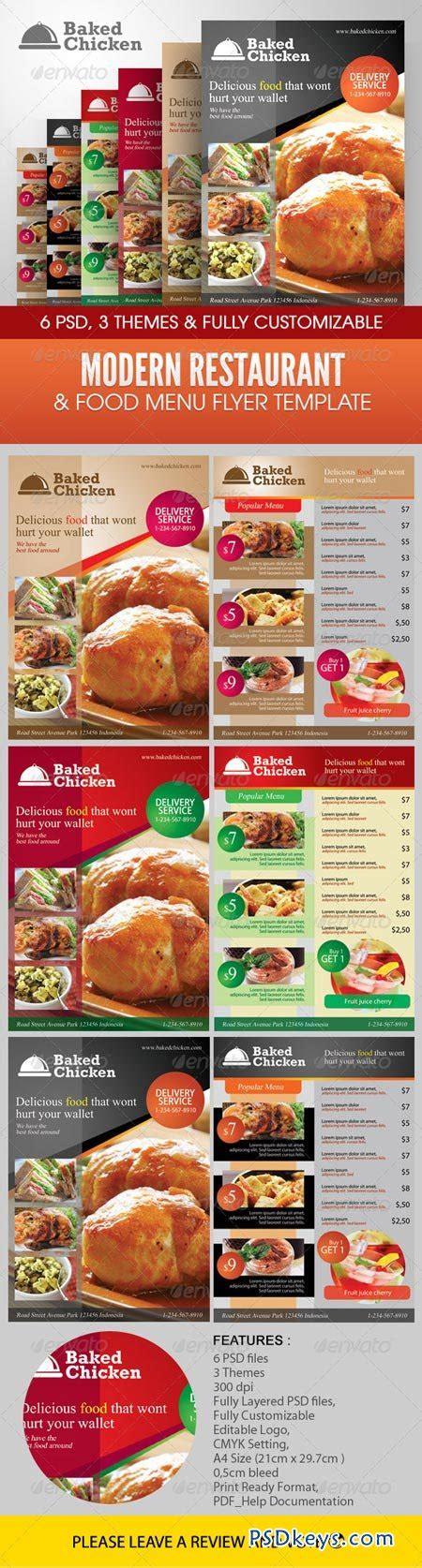 template flyer menu modern restaurant food menu flyer template 2305259 187 free
