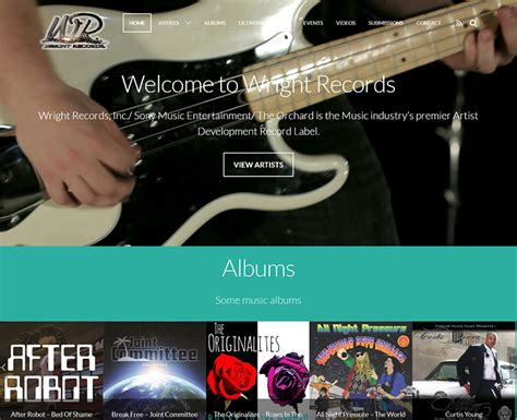 Wright County Records Wright Records Orange County Web Design Stark Logic