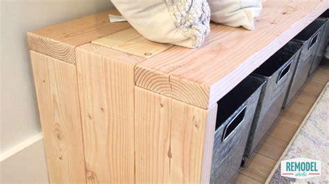 2x6 bench remodelaholic diy 2x6 bench modern waterfall bench tutorial