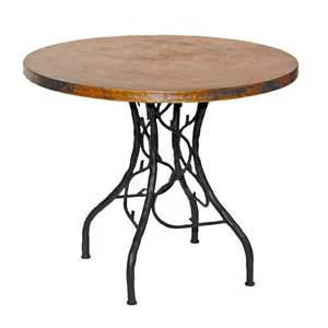 Iron Bistro Table Pictured Here Is The South Fork Bistro Table With 36 Quot Copper Top Crafted By Skilled