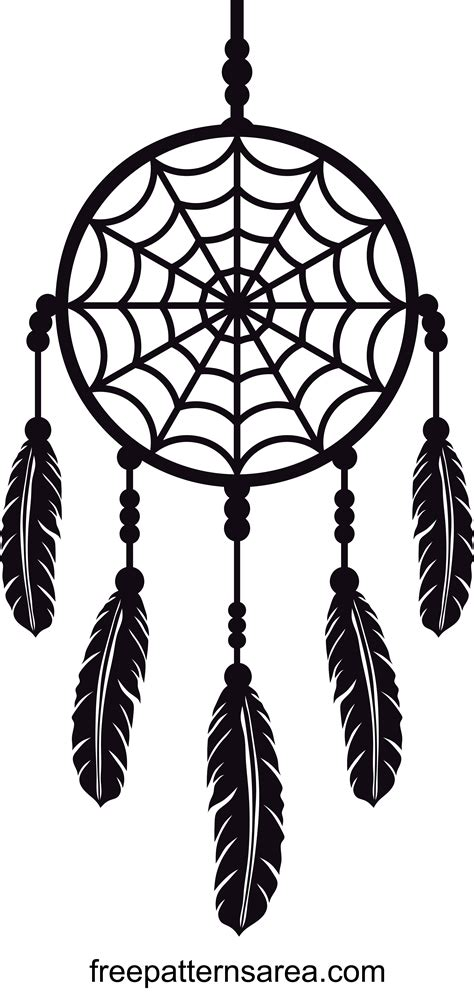 dreamcatcher design silhouette vector image files