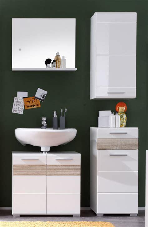 badezimmer unterschrank sonoma eiche badezimmer mezzo wei 223 hochglanz g 252 nstig kaufen