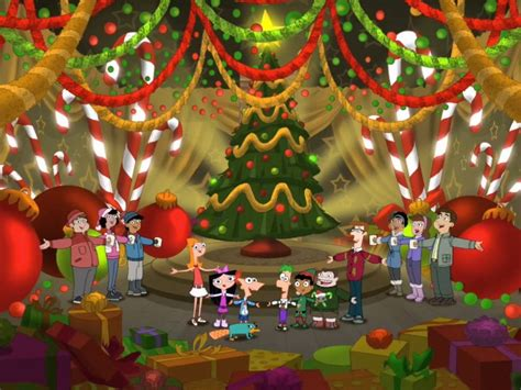 christmas wallpaper large size phineas and ferb christmas wallpaper hd wallpapers