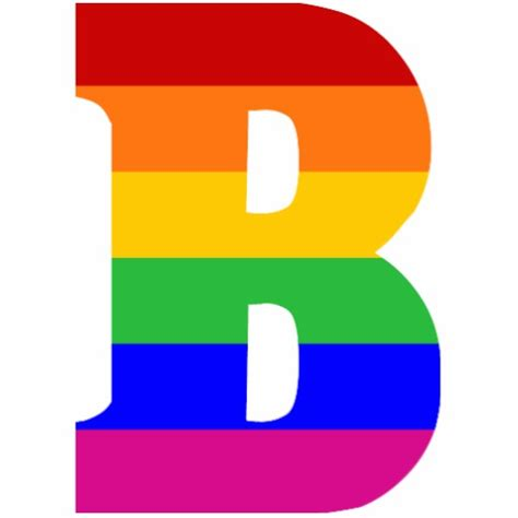 the b rainbow letter b cut outs zazzle
