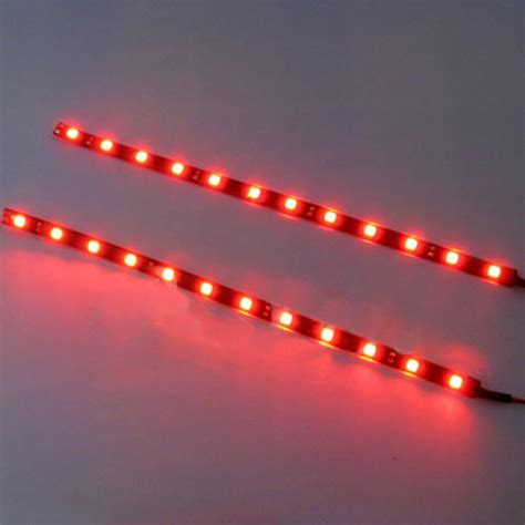 12v Led Light Strips Automotive Waterproof 2pc 12 Leds 30cm 5050 Smd Led Light 12v Car Decor Ebay