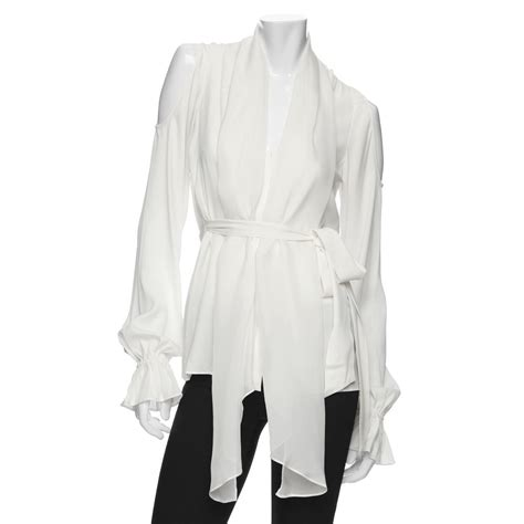 Blouse Out Sholder zoe cut out shoulder blouse in white white lyst