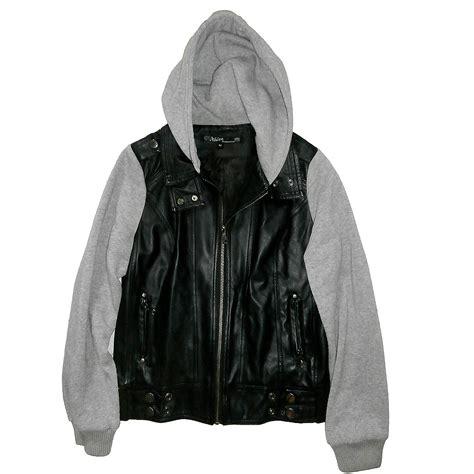 Jaket Hodie image gallery leather hoodie