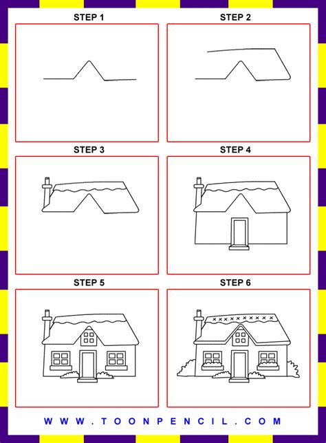 how to draw a house for kids step by step drawing step by step drawing for kids google search square1art