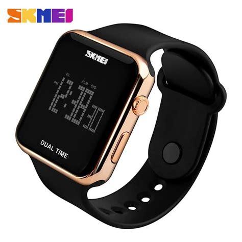 jual jam tangan pria skmei digital casual unisex led