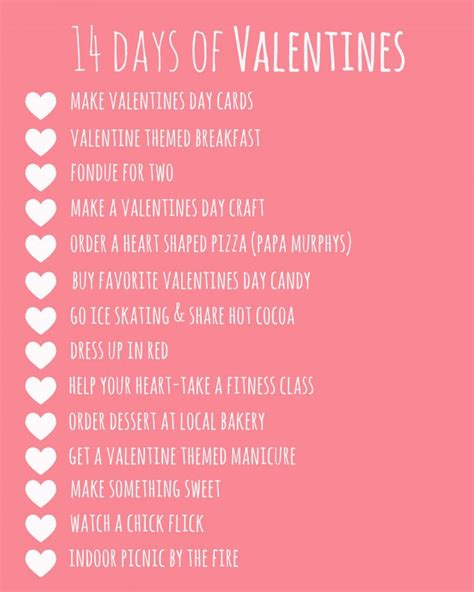 14 days of valentines gifts 14 days of valentines printable 24 7